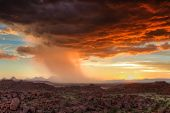 Thunderclouds At Sunset Over Damaraland