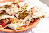 tortilla with dip