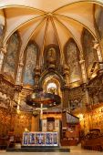 Basilica At The Montserrat Monastery Near Barcelona, Catalonia, Spain.