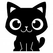stock photo of kawaii  - Vector Cartoon Adorable Little Cat Isolated Illustration - JPG