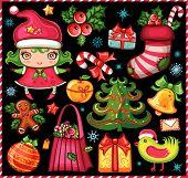 Christmas symbols set!