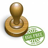 Egg Free Grunge Rubber Stamp