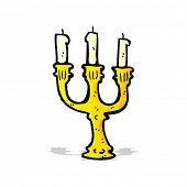 ornate candlestick cartoon