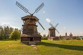 Old wooden windmill in Suzdal, Russia