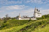 Vosnesenskiy temple of 1695 in Alexandrovskiy monastery at Suzdal in summer. Russia