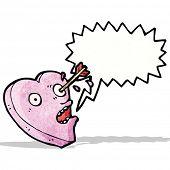 cartoon love struck heart