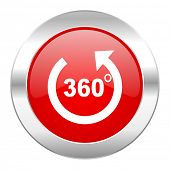 panorama red circle chrome web icon isolated