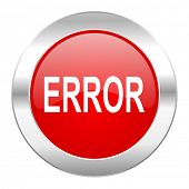 error red circle chrome web icon isolated
