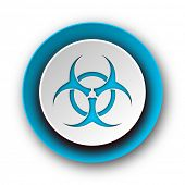 biohazard blue modern web icon on white background