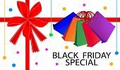 Black Friday Special Card with Shopping Bags