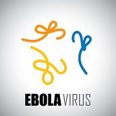 Deadly Ebola Virus Epidemic - Vector Graphic Icon.