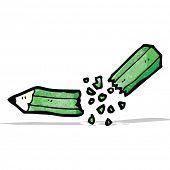 snapped pencil cartoon