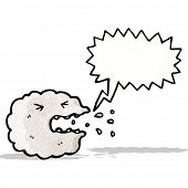 sneezing raincloud cartoon