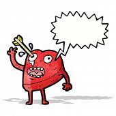 love struck heart cartoon character