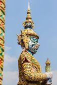 White Demon Guardian At Wat Phra Kaew