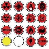 Danger lab icons