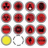 Danger lab icons