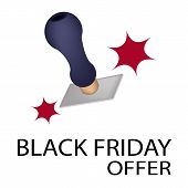 A Rubber Stamp With Word Black Friday Offer