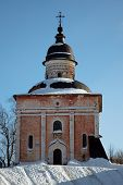 Ancient Russian Orthodox Church In Winter, Kirillov