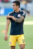 CARSON, CA - SEPT 28:  Tim Cahill during the Los Angeles Galaxy MLS game against the New York Red Bulls on Sept 28th 2014 at the StubHub Center.