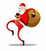 Funny Skinny Santa