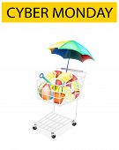 Beach Items in Cyber Monday Shopping Cart