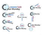 Magnifying Glass Looking for Cyber Monday Promotion