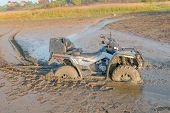 Atv Drowned In The Mud