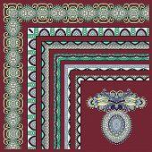 collection of ornamental floral vintage frame design