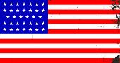 foto of civil war flags  - The Stars and Stripes flag as used by the Union forces during the Amrican civil war - JPG