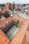 Aerial View Of Old Town In Torun, Poland.