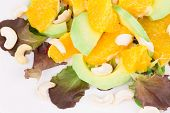 Fitness salad with oranges and lettuce.