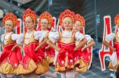 Russian Beauty In Rodnichok Folk Groupe