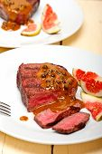 foto of ou  - beef filet mignon with green peppercorn creamy sauce ou poivre vert - JPG