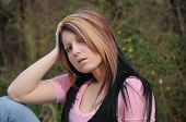 Attractive Young Lady Outdoors  006