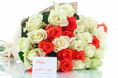 Bouquet Of Red And Yellow Roses