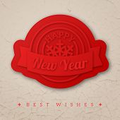Happy New Year Greeting Card. Vector Illustration.