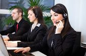Portrait of customer representatives at work in their office