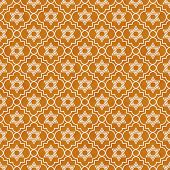 Orange And White Star Of David Repeat Pattern Background