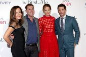 LOS ANGELES - OCT 7:  Denise Di Novi, Nicholas Sparks, Michelle Monaghan, James Marsden at the