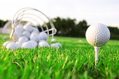 stock photo of golf bag  - Golf game - JPG