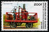 Postage Stamp Guinea 1996 Tom Thumb, 1829, Locomotive