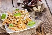 Portion Of Penne With Tomato Pesto