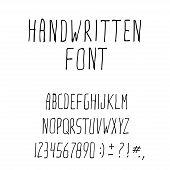 Handwritten Ink Alphabet Font