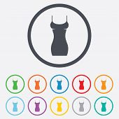 Women dress sign icon. Intimates and sleeps.
