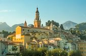 Church And Old Town Of Menton