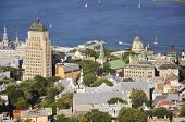 Old Quebec City aerial view, Canada