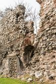 image of constantinople  - Remains of the famous ancient walls of Constantinople in Istanbul - JPG