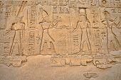 pic of ramses  - Ancient hieroglyphs on wall - JPG