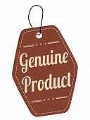 Genuine Product Brown Leather Label Or Price Tag